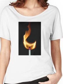 Flame Women's Relaxed Fit T-Shirt