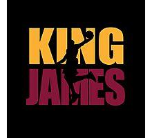 Lebron James - King James team colors Photographic Print
