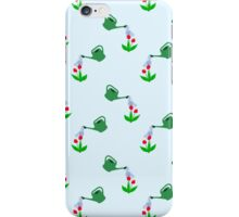 Watering can watering flowers wallpaper iPhone Case/Skin