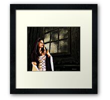 Confrontation Of Emotions Framed Print