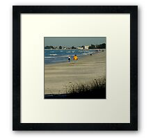 Views From The Beach : Winter In Florida Framed Print