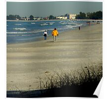 Views From The Beach : Winter In Florida Poster