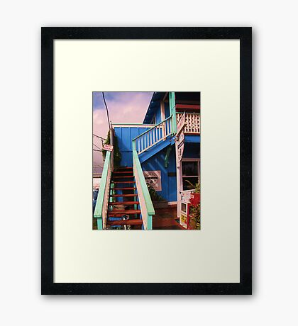 Small Town Coffee House Framed Print