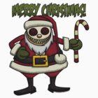 Creepy Santa with Candy Cane by Wislander