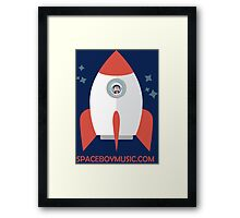 Spaceboy's Rocket Framed Print