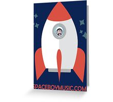 Spaceboy's Rocket Greeting Card