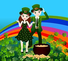 Kids in St.Patrick Day by MariaFernandes
