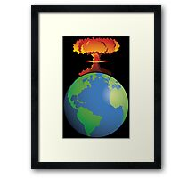 Nuclear explosion on Earth Framed Print