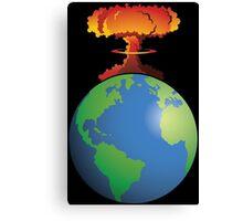 Nuclear explosion on Earth Canvas Print