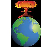 Nuclear explosion on Earth Photographic Print