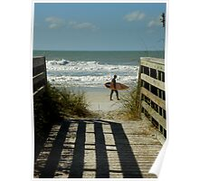Views From The Beach On A Beautiful Sunday Afternoon... Poster