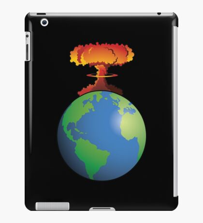 Nuclear explosion on Earth iPad Case/Skin