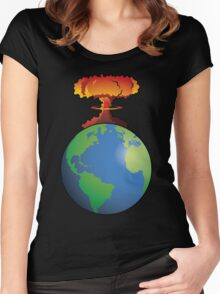 Nuclear explosion on Earth Women's Fitted Scoop T-Shirt