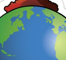Nuclear explosion on Earth Sticker