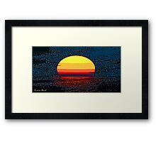 Picture 2015064 Justin Beck setting sun Framed Print