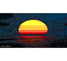 Picture 2015064 Justin Beck setting sun Photographic Print