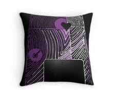 The Reality of a PASSION pumped heart Throw Pillow