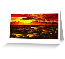 Picture 2015066 Justin Beck Mountain Sunset Greeting Card