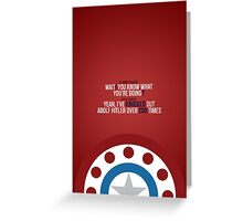 Captain America: The First Avenger - Quote Greeting Card