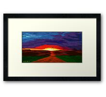 Picture 2015067 Justin Beck Glowing Sunset Framed Print