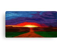Picture 2015067 Justin Beck Glowing Sunset Canvas Print