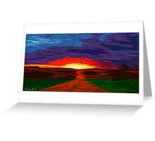 Picture 2015067 Justin Beck Glowing Sunset Greeting Card