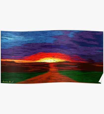 Picture 2015067 Justin Beck Glowing Sunset Poster