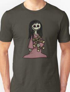 Creepy Girl with Teddy Bear Unisex T-Shirt
