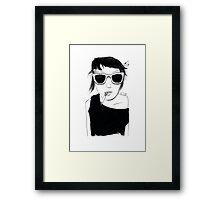 Smoking Girl Framed Print