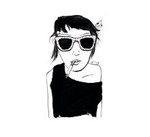 Smoking Girl Photographic Print
