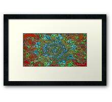 Picture 2015071 Justin Beck Abstract Flower Framed Print