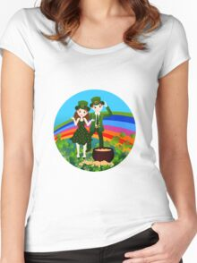 Kids in St.Patrick Day Women's Fitted Scoop T-Shirt