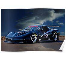 2010 Chevrolet Corvette GT1 Racecar Poster
