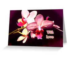 With Love Valentine card Greeting Card