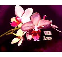 With Love Valentine card Photographic Print