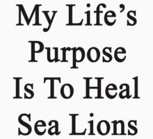 My Life's Purpose Is To Heal Sea Lions  by supernova23