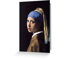 Girl With the Gauge Earring Greeting Card
