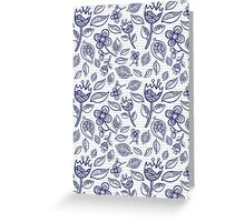 doodle floral pattern Greeting Card