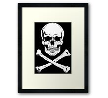 Pirate Jolly Roger with crossbones Framed Print
