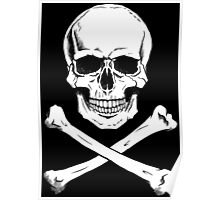 Pirate Jolly Roger with crossbones Poster