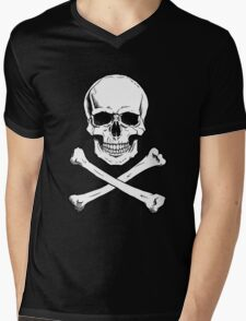 Pirate Jolly Roger with crossbones Mens V-Neck T-Shirt