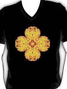 """""""Spirit of India: Cross-Column - Fleur"""" in grass green and yellow T-Shirt"""