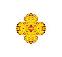 """""""Spirit of India: Cross-Column - Fleur"""" in grass green and yellow by FireFairy"""