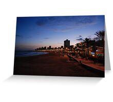 Beach At Dusk Greeting Card