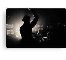 Nightclub Dj Silhouette Canvas Print