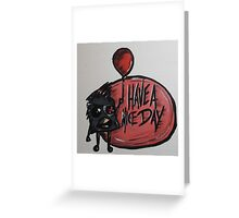 Mugshots: J Greeting Card