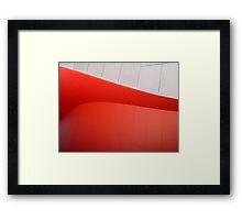 Red Curves Framed Print