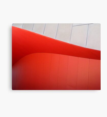 Red Curves Canvas Print