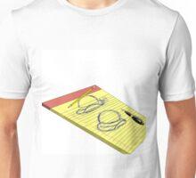 Yellow Pad Doodle Unisex T-Shirt