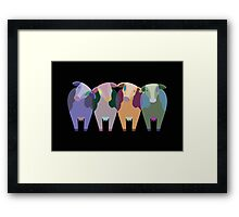 Confused Cows Framed Print